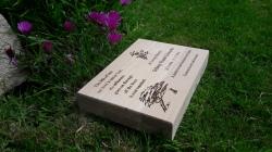 WooOak Engraved Grave Markerden Memorial Plinth