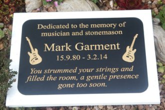 Two tone Corian Memorial plaque