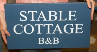 Painted Wooden Sign - https://www.sign-maker.co.uk/double-sided-painted--oak-signs-23311-p.aspn Signs on posts - https://www.sign-maker.co.uk/double-sided-painted--oak-signs-23311-p.asp