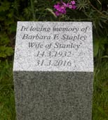 Tall Silver Grey Granite Memorial Wedge