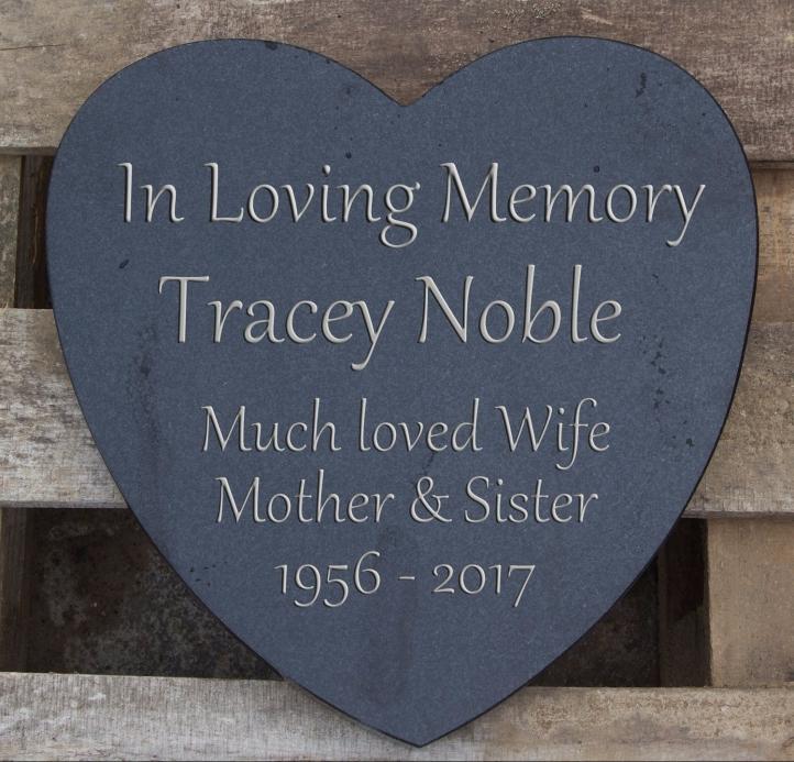 Heart Shaped Granite Memorial