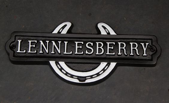cast stable nameplate