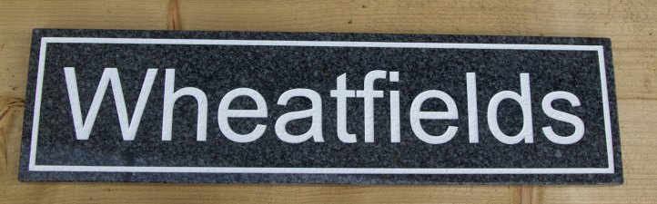 Dark Grey Granite House Sign
