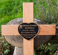 Cast Bronze Plaque on Cross