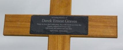 Rustic Slate Plaque mounted on wooden cross