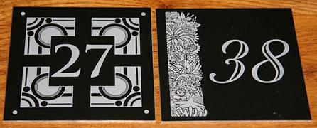 Black Anodised Aluminium Number