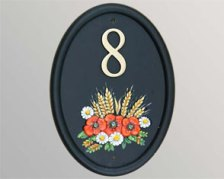 Cast & Hand painted Number