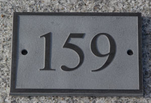 Slate with raised border and number