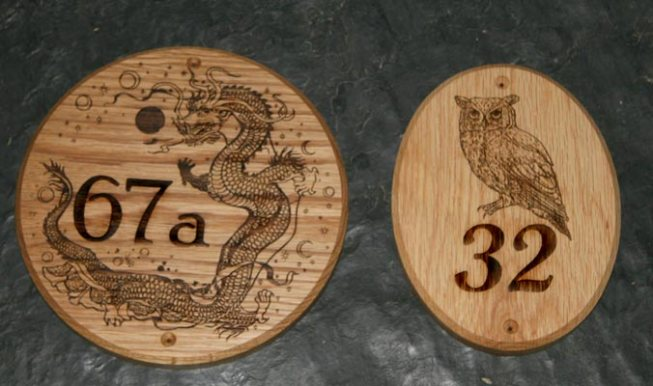 Oval Wooden Number Signs
