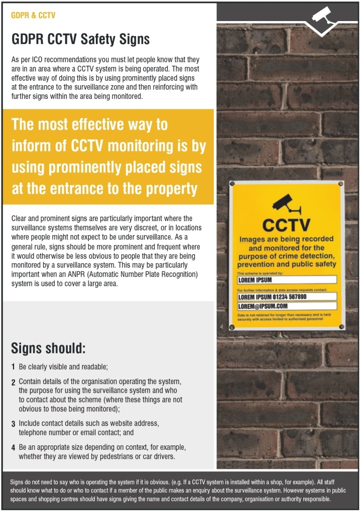 CCTV Safety Signs