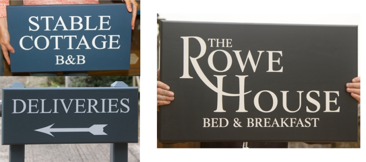 Accoya Painted Signs