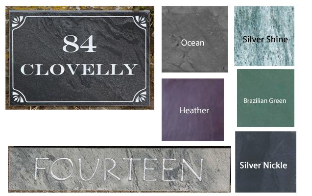 coloured slate
